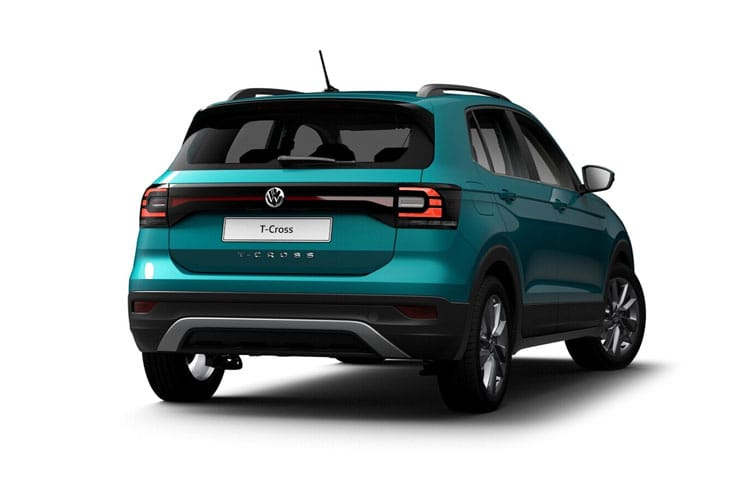 Volkswagen T-Cross SUV 1.0 TSI 95PS United 5Dr Manual [Start Stop] back view