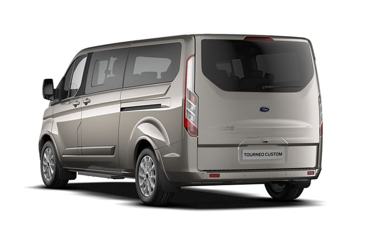 Ford Tourneo Custom 320 L2 M1 2.0 EcoBlue MHEV FWD 185PS Titanium X Minibus Manual [Start Stop] [8Seat] back view